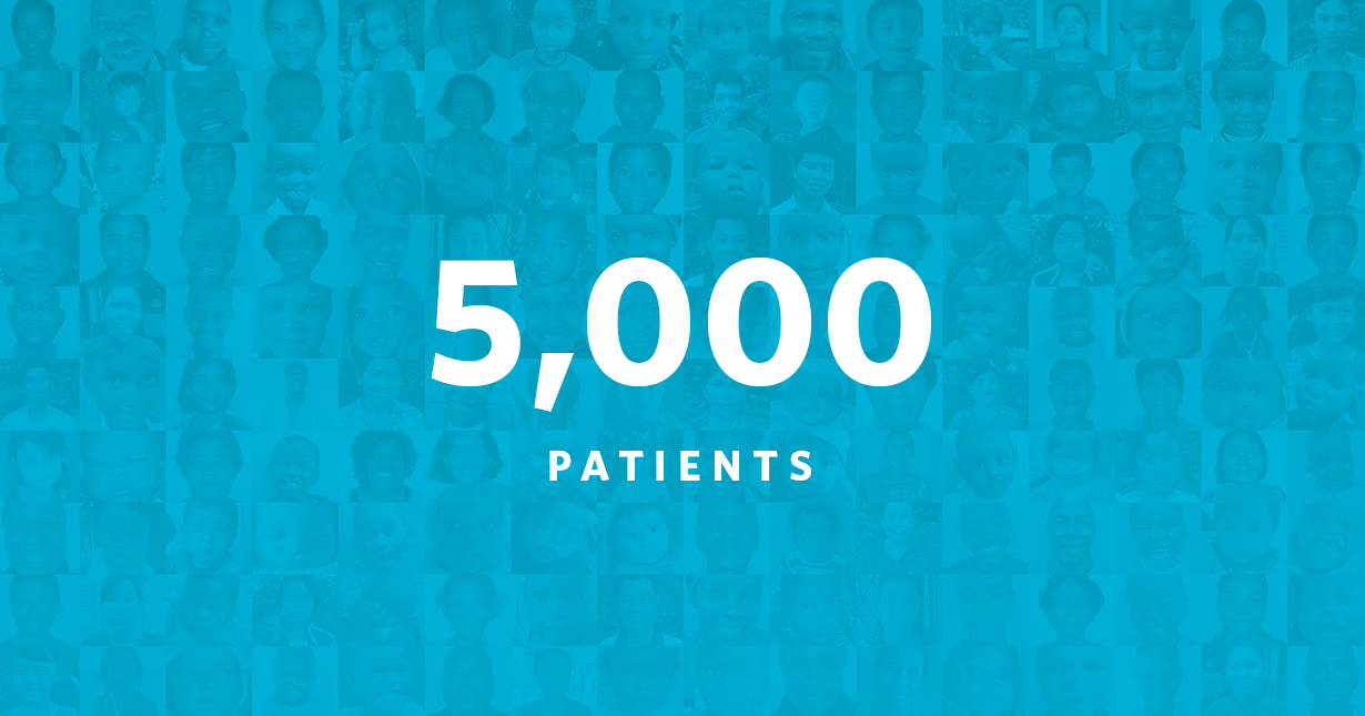 We've funded 5,000 patients!