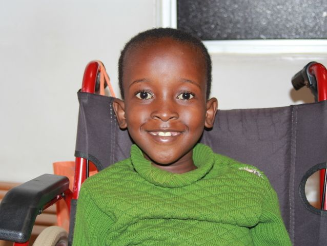 Marline, a young patient in Kenya.