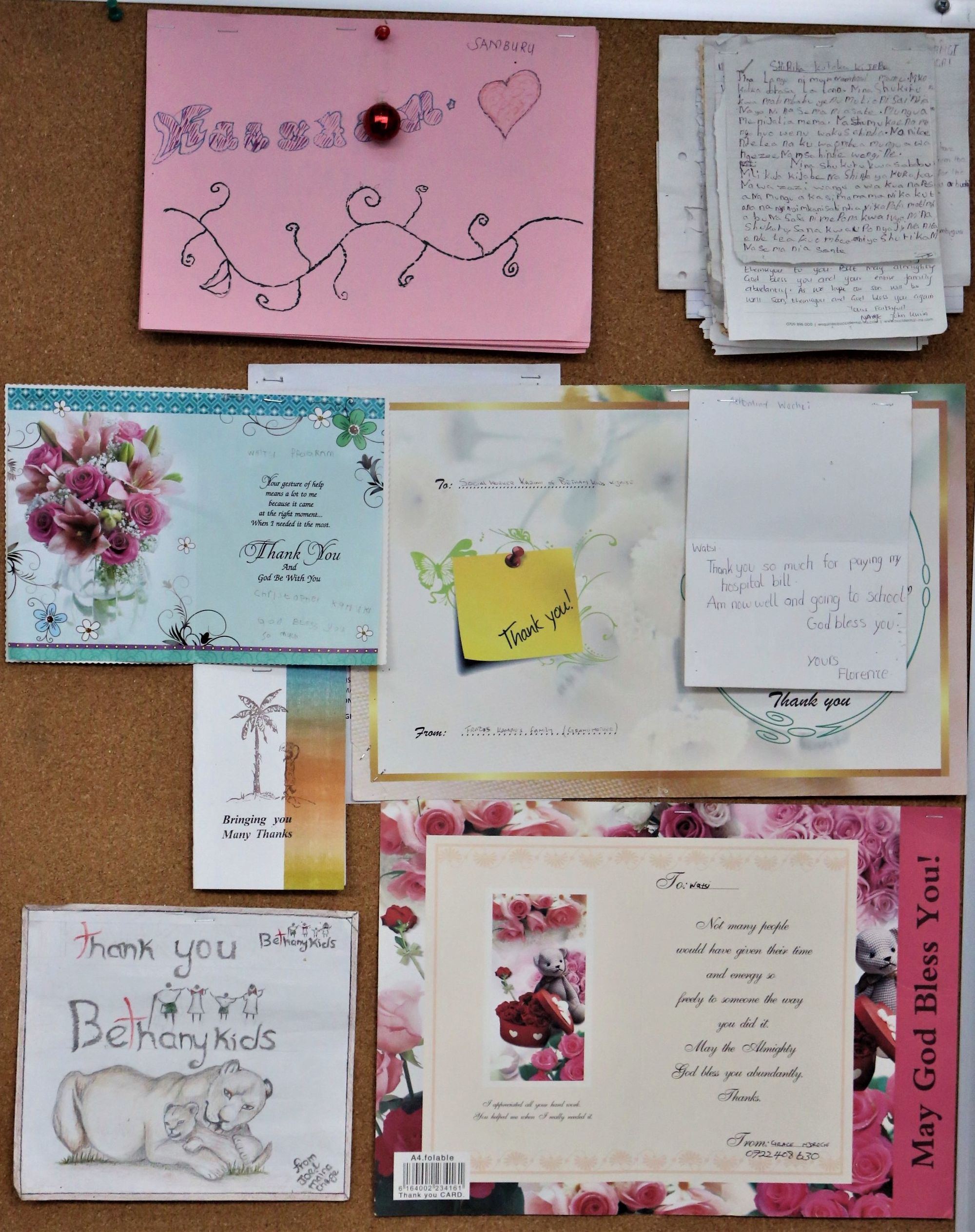 Cards from Watsi Patients